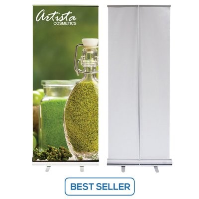 33.5 x 80 Economy Retractable Banner Stands