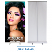 36 x 80 Economy Retractable Banner Stands
